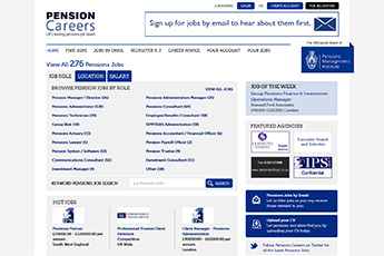 pension careers Websites