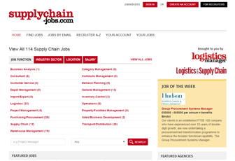 Supply Chain Jobs website