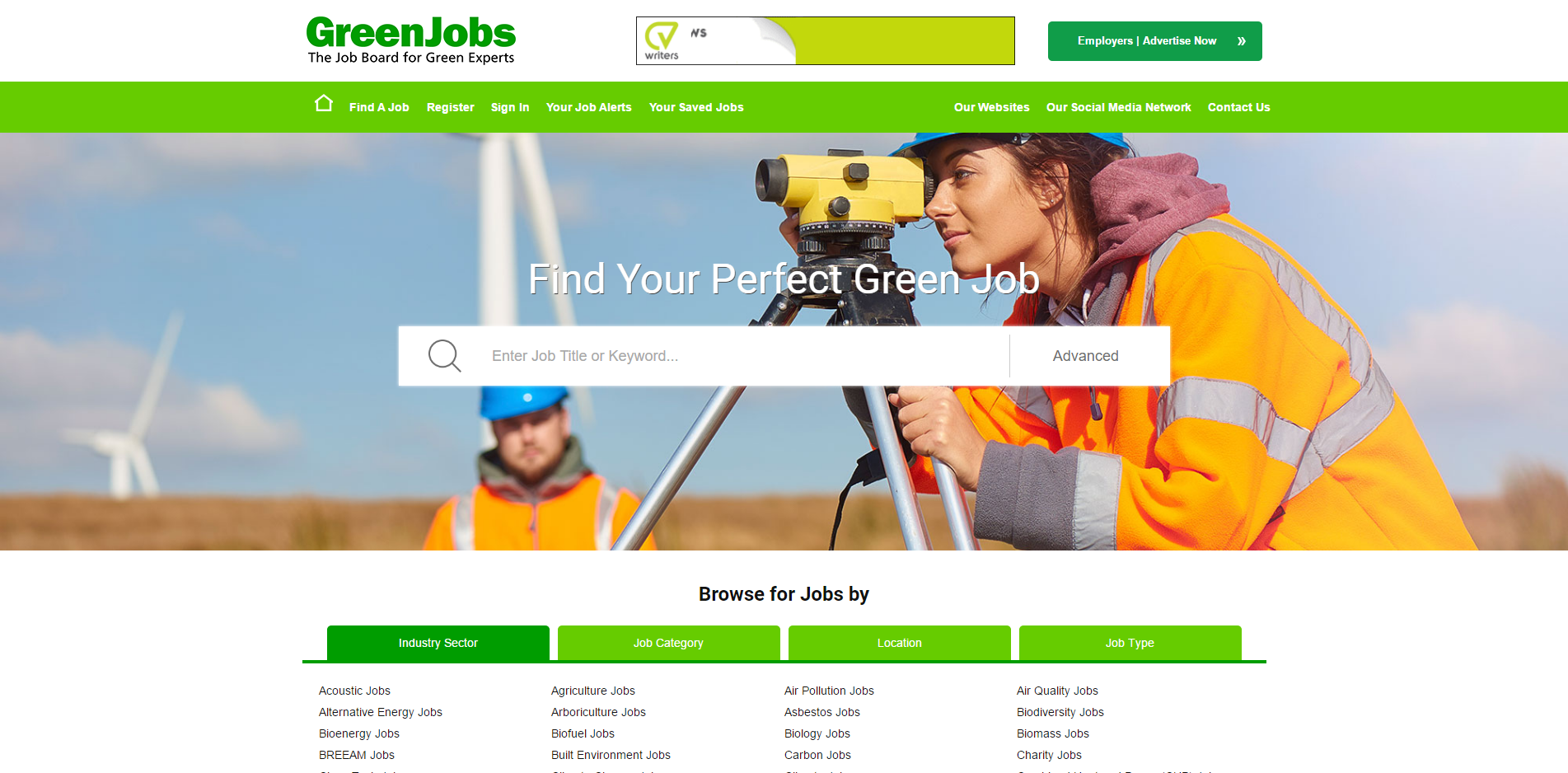Green jobs website