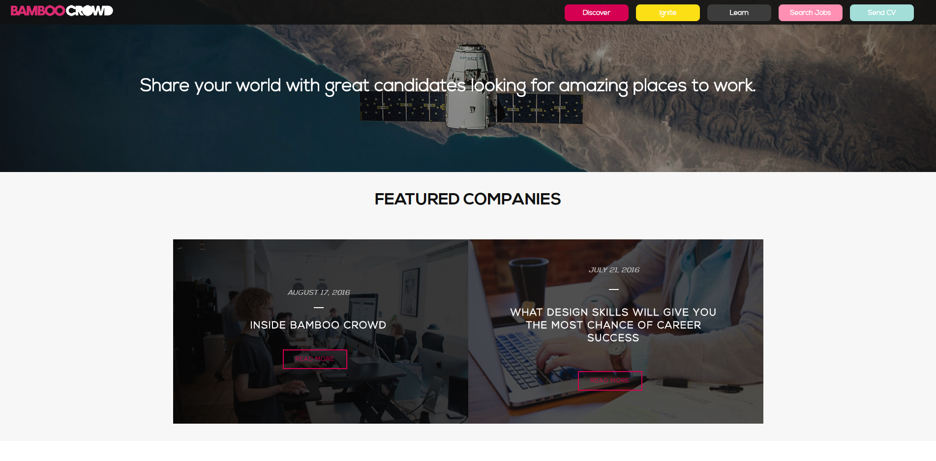 bamboo crowd s innovative recruitment website is now live innovative recruitment website